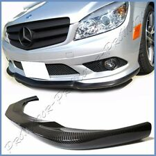 Fit 08-11 BENZ W204 C280 C350 Sport Sedan CS Look Carbon Fiber Front Bumper Lip