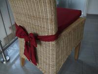 Stuhlkissen 40 x 40 x 4 cm Sitzkissen bordeaux mit Schleife
