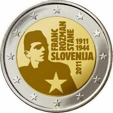 Slovenia   2€ 2011 Franc Rozman FDC   in oblò e posta prioritaria