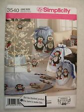 Christmas Penguin Bags Tree skirt sewing pattern 3540 S See Full Listing Info