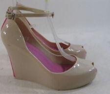 Zapatos de tacón de mujer plataformas sin marca de piel