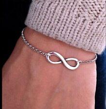 Handmade Silver Infinity Bracelet Bridesmaid Gifts, Christmas gift Ladies Girls