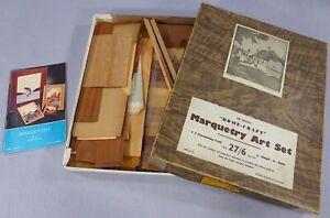 Vintage Home Craft Marquetry Art Set 1940s/50s Rural England Boxed Veneers