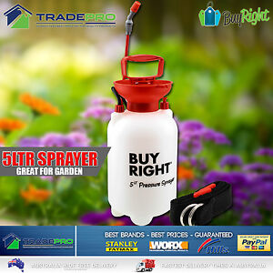 Chemical Garden Sprayer 5Ltr PRO W/Lance Adjustable Nozzle 5L Herbicide Pest