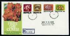 Singapore Scott #319-322 FIRST DAY COVER Orchids Flowers FLORA $$