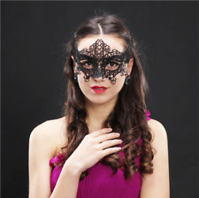 Black STUNNING Venetian Masquerade Eye Mask Party Lace Fancy Dress