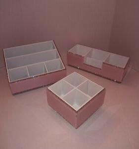 Pink Makeup Storage Organizers                                       Stunning!!!