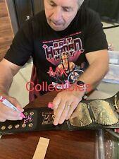 WWF Bret Hitman Hart Signed Winged Eagle Championship Belt W/Proof WWE