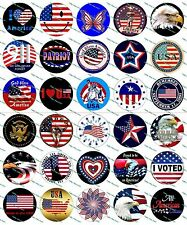 "30 Precut 1"" Patriotic Bottle Cap Image Set 1"
