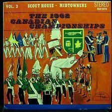 1962 Canadian Bugle Championships - Vol. 3 Scout House - Midtowners LP VG+ Vinyl