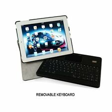 NEW KHOMO ® Leather 360 Degree Case DETACHABLE Bluetooth Keyboard Ipad 2/3/4
