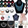 Women Fashion Crystal Necklace Jewelry Statement Pendant Charm Chain Choker Gift