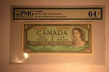 CANADA $1 1954 *H/F0776891 REPLACEMENT PMG GRADED CHOICE UNC 64