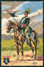 Militari Reggimentali VI Lancieri di Aosta Cervi cartolina XF2124