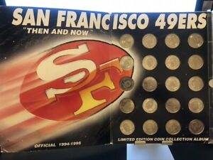 San Francisco 49ers 20 Coin Collector Set Limited Edition Album NFL 1994-1995