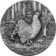 CAPERCAILLIE  SWISS WILDLIFE 2$ Niue 2014 Silver Coin Ultra High Relief