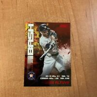 2020 Topps Stadium Club - Jose Altuve - Red Foil Bash & Burn Insert Parallel