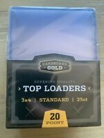 25 pack NEW Standard CBG Top Loader 20pt Plastic Holders 3 x 4 cards - in hand!