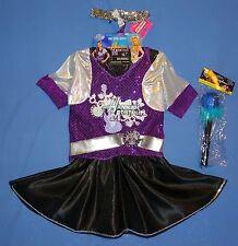 Disney Hannah Montana costume dress-2-pc-4-6X;rock'n roll;toy mic;hairband;LOT-4