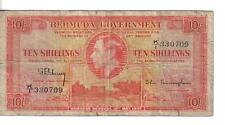 BERMUDA, 10 SHILLINGS, P#10b, 1937