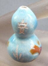 1Pcs Ceramics Porcelain Happy Lucky Word Gourd Bead Finding--46mm*31mm