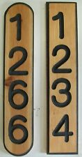ADDRESS PLAQUE, Address Sign, Mailbox Numbers, House Number, Carved CEDAR 4#