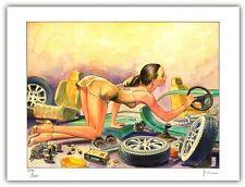 Affiche Milo MANARA Filles et Voitures Donne e Motori 14 signé 200ex 30x40 cm