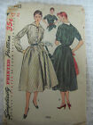 Vintage Simplicity 4783 ONE-PIECE DRESS w/ DETACH COLLAR Sewing Pattern Women