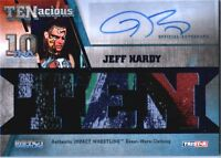 TNA Jeff Hardy 2012 TENacious BLUE Triple Relic Autograph Card SN 27 of 50