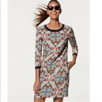 J. Crew Factory Misty Fog Floral Shift Dress Women's Size 16 Preowned