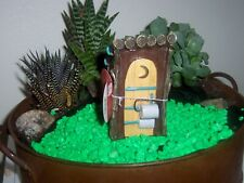 Miniature fairy garden resin outhouse