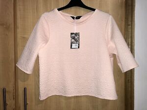 🌟 BNWT Dorothy Perkins All About Rose Pink Textured Soft Top 16