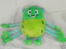 "Disney Monster Inc Green Blue Plush 6 Arms Monster 8"" Tall"