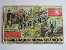 Victorian Trade Card,  Organs, Mason & Hamlin, Organ & Piano Co., Boston