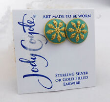 JODY COYOTE Turquoise Stud Earrings  Msrp $40.00 **NEW WITH TAG**