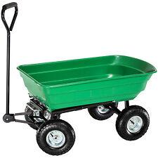 Chariot de jardin à main remorque transporteur inclinable basculante charrette