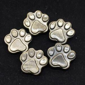 Natural Gold Obsidian Quartz Crystal Carved Cat Paw Healing Pendant Reiki DIY1Pc