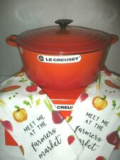 Le Creuset New in Box Flame Round Cast Dutch Oven 9 Quart $520 Nwt free ship