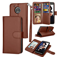 For Motorola Moto E4 Plus Wallet Leather Case Flip Stand Card Phone Case Cover