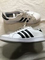 Adidas Grand Court Shoes Sneakers White Black Leather  Men's Size 10.5