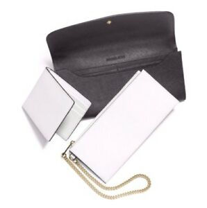 NWT Michael Kors Juliana Large 3-In-1 Saffiano Leather Wallet Black