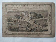 """Brochure des """"Domaines des Tuilières et d'Argougnan (Médoc) - février 1883"""