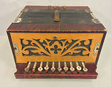 Antique German Accordion Wood Case to Accordion Early 1900s