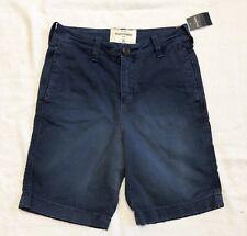 Boys Abercrombie Kids Deep Blue Chino Shorts Sz 12 NWT!!!