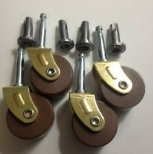 "C-4B Large,1-5/8"" Diameter Wood Furniture Caster Set with Inserts (Set of 4)"
