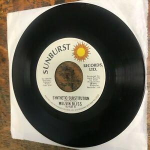 "MELVIN BLISS Synthetic Substitution / Reward 7"" single 45 RPM SUNBURST VG+ Vinyl"