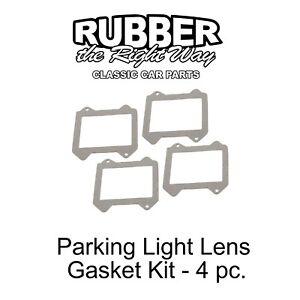 1966 Ford Park Light Lens Gasket Kit - 4 Piece