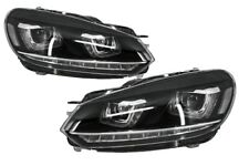 Headlights  For  VW Golf 6 VI 3D DRL U-Design 7 VII LED Flowing Turning Light RH