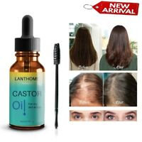 ​PURE ORGANIC CASTOR OIL EYELASH/EYEBROW/HAIR ENHANCER GROWTH SERUM 10ML NEW