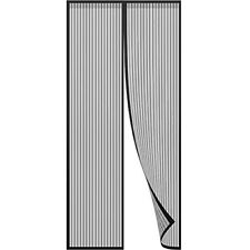 Anpro Magnetic Fly Insect Screen Door Screen Mesh Curtain Fits Door Up To 90 x 2